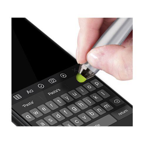 Athos® kulepenn med stylus for berøringsskjermer og farget gummigrep