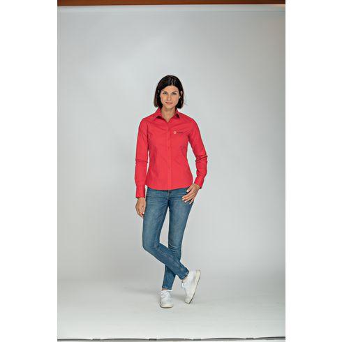 L&S Poplin Longsleeve Shirt dame skjorte