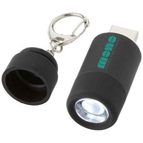Avior nøkkelring med USB og oppladbar lykt