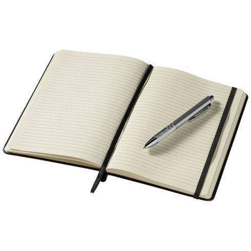 Panama A5 notatbok i stivt omslag og penn