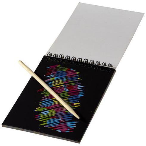 Waynon fargerik kladdeblokk med kladdepenn