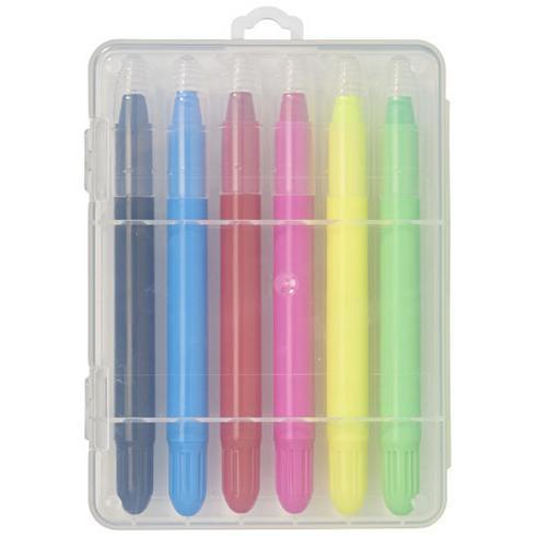 Phiz 6 uttrekkbare fargestifter i plasteske