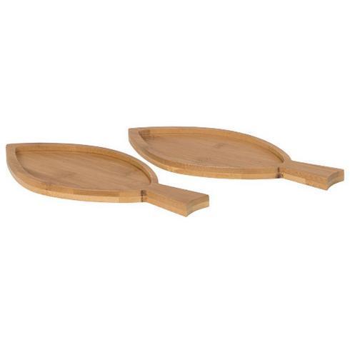 Anna 2-delt bambus amuse-sett i fiskeform