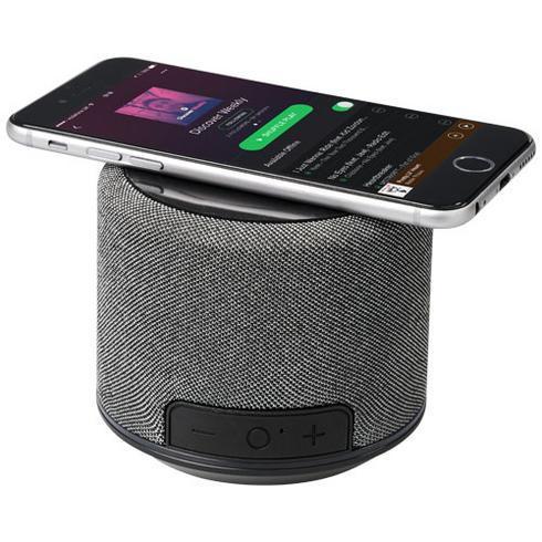 Fiber Bluetooth® høyttaler med trådløs lading