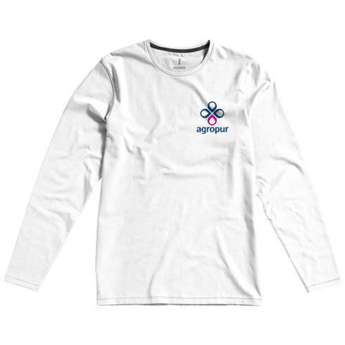 Ponoka langermet økologisk t-skjorte for menn