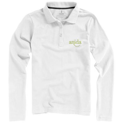 Oakville langermet poloskjorte for kvinner